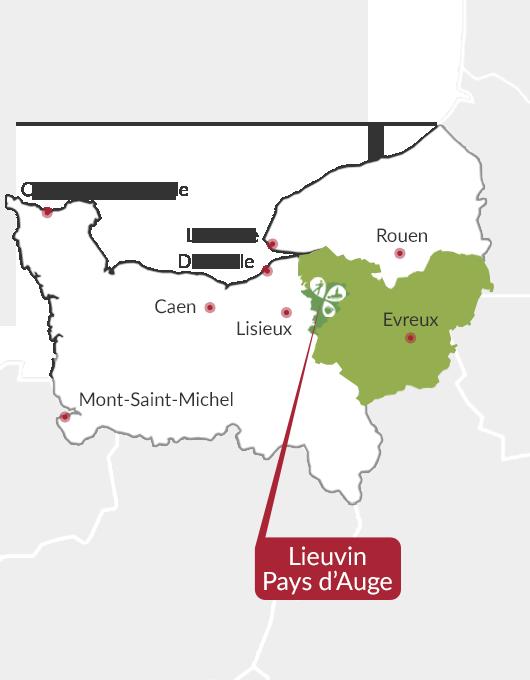 Situation Lieuvin Pays d'Auge en Normandie